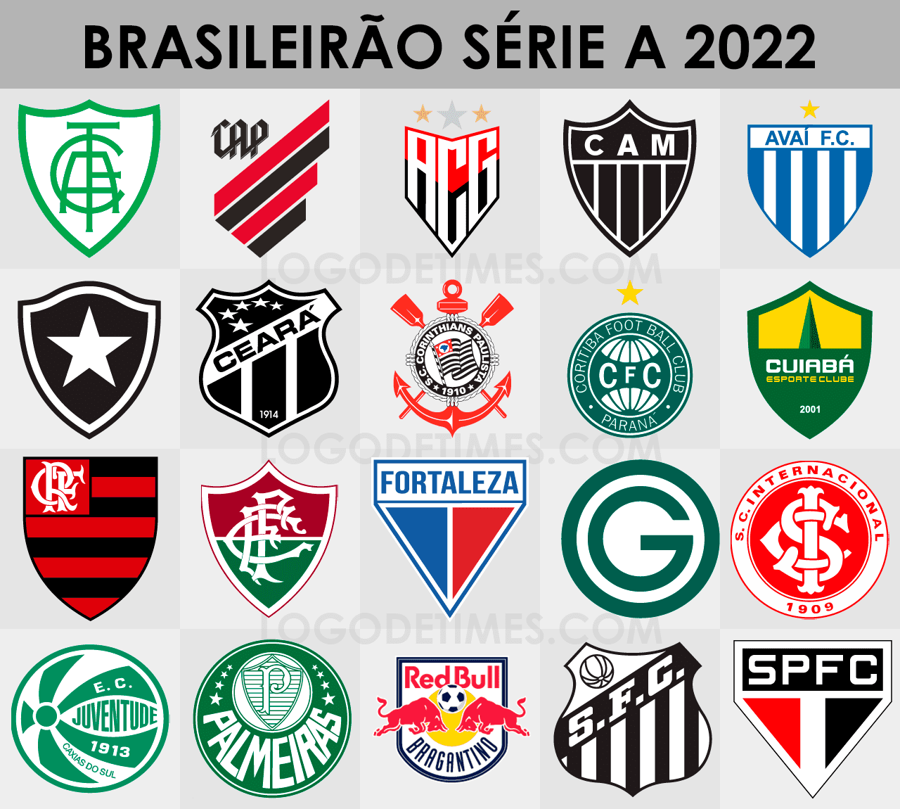 Campeonato Brasileiro - Série A - Logo de Times
